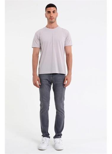 Rodi Jeans Erkek Bisiklet Yaka Basic T-Shirt Rd21Ye270930 Taş